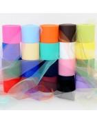 Rotoli Tulle colorati per confezioni e decorazioni