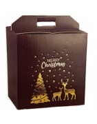 Scatole porta panettone e bottiglia - confezione regalo di natale